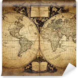 Yıkanabilir Duvar Resmi Dünya 1752 haritası