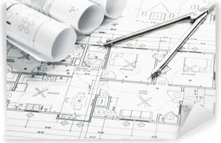 Yıkanabilir Duvar Resmi Inşaat planlama çizimleri