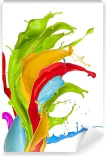 Yıkanabilir Duvar Resmi Renkli sıçramalar