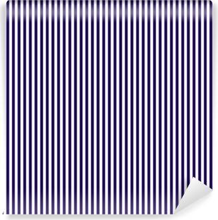 Yıkanabilir Duvar Resmi Sık dikey koyu mavi çizgili Dikişsiz desen. Dikey çizgili Lineer arka plan. vektör çizim