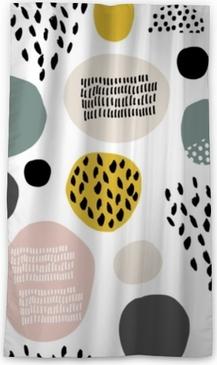 Zasłona okienna nieprzepuszczająca światła Szwu wzór fdashion z ręcznie rysowane plamy, kropki, tekstury pędzla. twórcze nowoczesne tekstury. doskonale nadaje się do tkaniny, ilustracji wektorowych włókienniczych