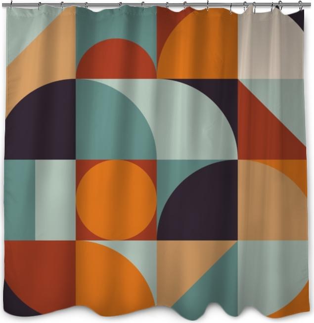 Zasłona prysznicowa Abstrakcyjna geometria wzór graficzny 12 - Zasoby graficzne