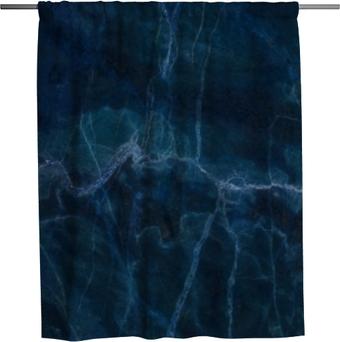 Zasłona prysznicowa Niebieski ciemny marmur tekstura tło