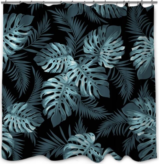 Zasłona prysznicowa Tropikalne liście - Rośliny i kwiaty