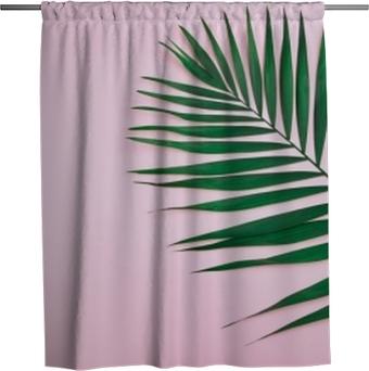 Zasłona prysznicowa Zielony liść kokosa