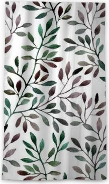 Zatemňovací okenní závěs Akvarel bezproblémové vzorek s větví. podzim pozadí