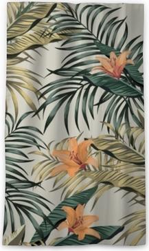 Zatemňovací okenní závěs Tropické banánové listy květiny bezešvé