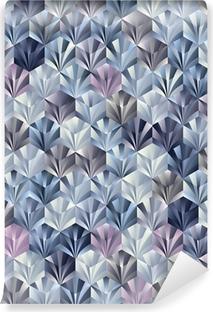 Zelfklevend Fotobehang 3d geometrische naadloos patroon.
