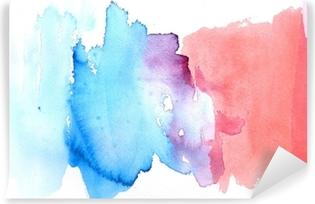 Zelfklevend Fotobehang Abstract waterverfontwerp als achtergrond