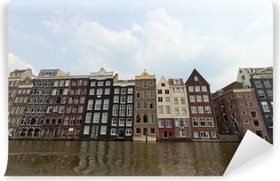 Zelfklevend Fotobehang Amsterdamse grachtenpanden