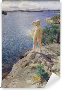 Zelfklevend Fotobehang Anders Zorn - Na skalném útesu