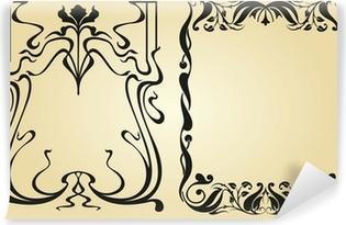 Zelfklevend Fotobehang Art Nouveau ontwerp kader en elementen