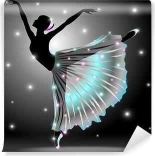 Zelfklevend Fotobehang Ballerina Ballet-Dance Classic Star Dancer-Vector