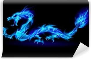 Zelfklevend Fotobehang Blue fire Dragon