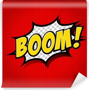 Zelfklevend Fotobehang Boom! - Comic Speech Bubble, Cartoon