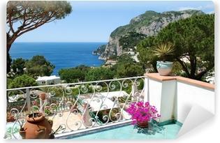 Zelfklevend Fotobehang Capri, Balkon zicht