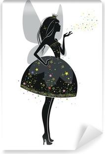 Zelfklevend Fotobehang Fee in zwarte jurk