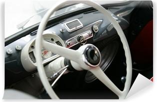 Zelfklevend Fotobehang Fiat 600 multipla interieurs vintage stuurwiel