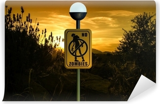 Zelfklevend Fotobehang Geen Zombies