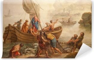 Zelfklevend Fotobehang Gent - Verf wonder vissen vanaf st. Peter s kerk