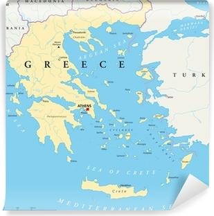 Zelfklevend Fotobehang Griekenland Kaart