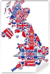 Zelfklevend Fotobehang Groot-Brittannië kaart