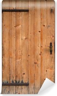 Zelfklevend Fotobehang Houten deur