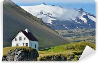 Zelfklevend Fotobehang IJsland - Solheimajokull vulkaan en gletsjer