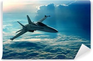 Zelfklevend Fotobehang Jachtvliegtuig