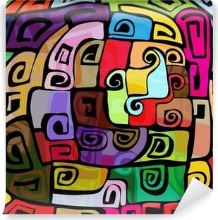 Zelfklevend Fotobehang Kleurrijk modern design