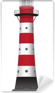 Zelfklevend Fotobehang Leuchtturm *** Vektorgrafik