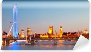 Zelfklevend Fotobehang London Eye Panorama