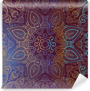 Zelfklevend Fotobehang Mandala. Indiase decoratief patroon.