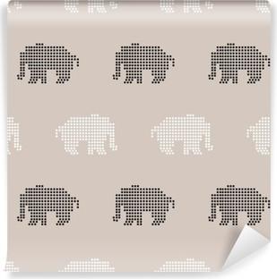 Zelfklevend Fotobehang Naadloos olifantspatroon