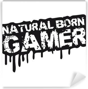 Zelfklevend Fotobehang Natural Born Gamer Stempel Graffiti