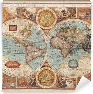 Zelfklevend Fotobehang Oude kaart (1626)