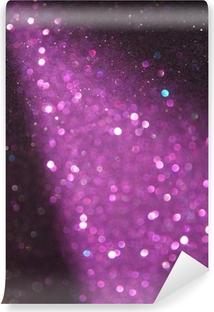 Zelfklevend Fotobehang Paars en zilver glitter verlichting. defocused lichten.