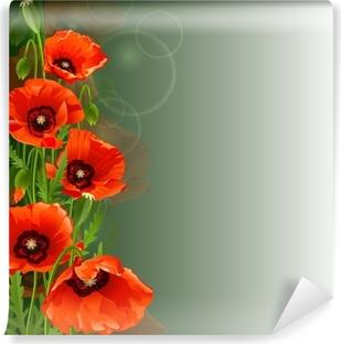 Zelfklevend Fotobehang Papaver achtergrond