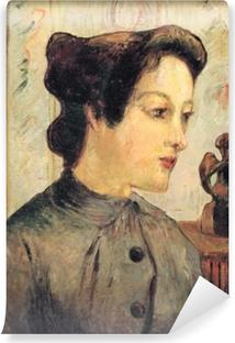 Zelfklevend Fotobehang Paul Gauguin - Portret van een jonge vrouw