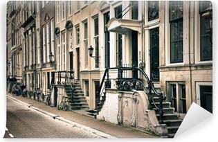 Zelfklevend Fotobehang Perspectief van de oude amsterdam