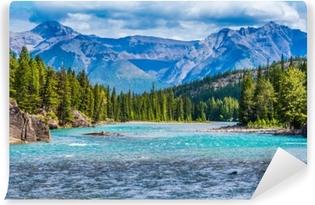 Zelfklevend Fotobehang Prachtig Canadees berglandschap