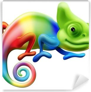 Zelfklevend Fotobehang Regenboog kameleon