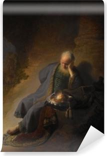Zelfklevend Fotobehang Rembrandt van Rijn - Jeremia treurend over de verwoesting van Jeruzalem