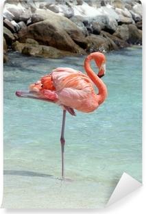 Zelfklevend Fotobehang Roze flamingo