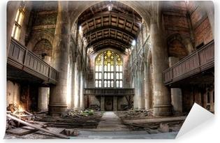 Zelfklevend Fotobehang Sanctuary. Verlaten Stad Methodist Church in Gary, Indiana. HDR