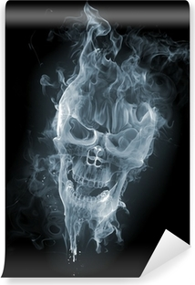Zelfklevend Fotobehang Schedel - smoke