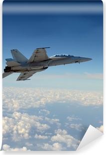 Zelfklevend Fotobehang Straaljager in de vlucht