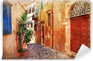 Zelfklevend Fotobehang Strrets oude Griekenland - artistieke foto