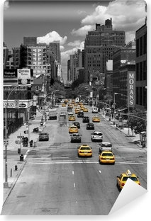 Zelfklevend Fotobehang Taxi Drive