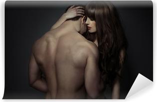Zelfklevend Fotobehang Tender romantische jonge geliefden